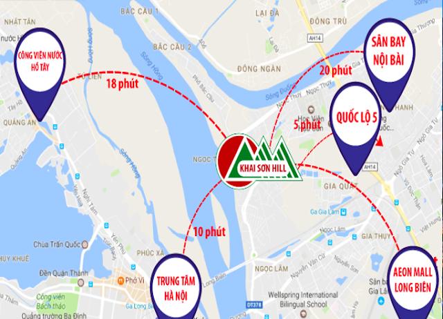 Vị trí Khai Sơn City Long Biên