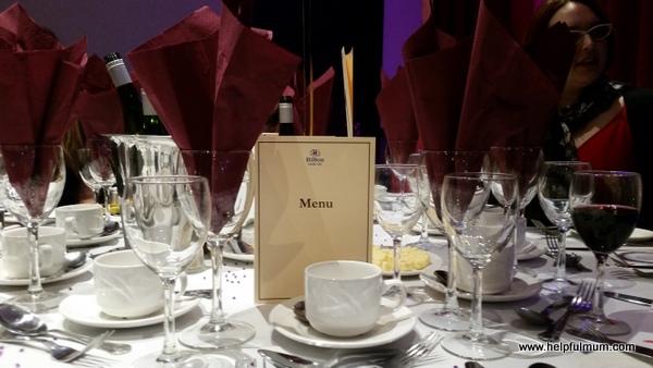 The Hilton Leeds dinner