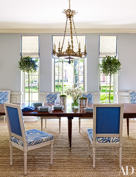 Bruce Budd Design dining room with louis xvI chairs