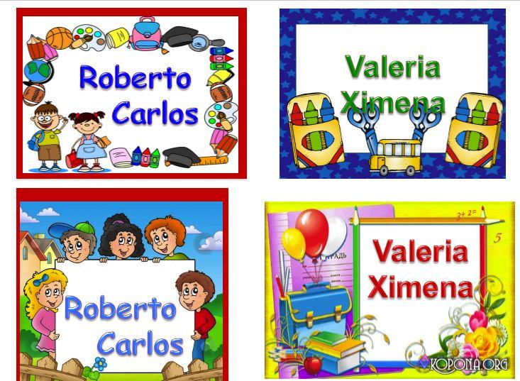 Gafetes para Niños Diseños de Gafetes numero 3 ~ DIPLOMAS Y GAFETES - formatos para gafetes