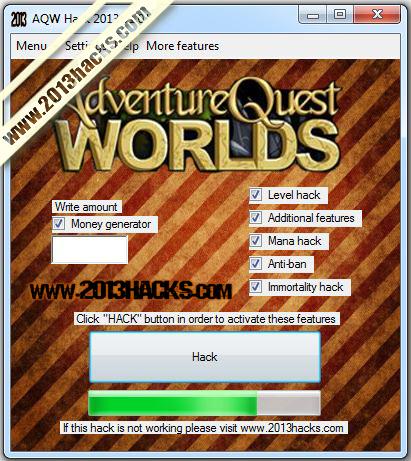Adventure Quest Worlds Hack 2013
