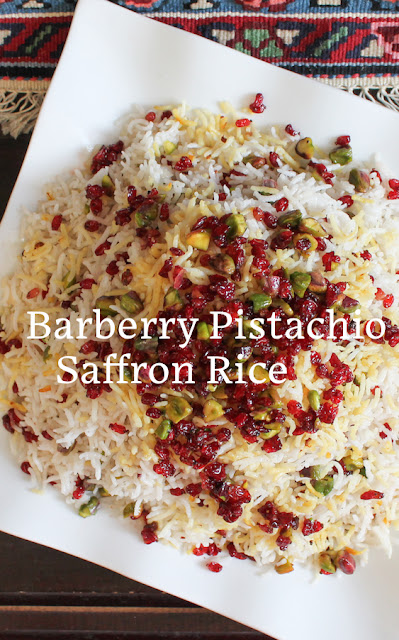 Food Lust People Love: Elevate rice from plain to a bejeweled side dish with golden saffron, crimson barberries and bright green pistachios. Barberry Pistachio Saffron Rice is as pretty as it is tasty. If you have a rice cooker, it's super simple as well.