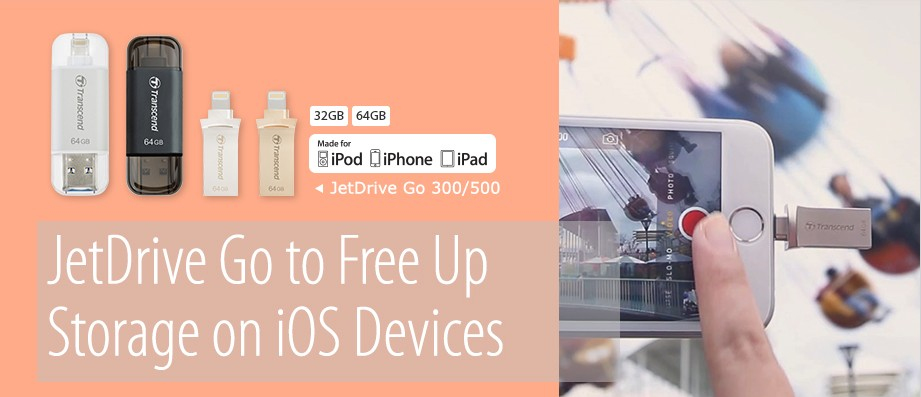 JetDrive Go to Free Up Storage on iOS Devices