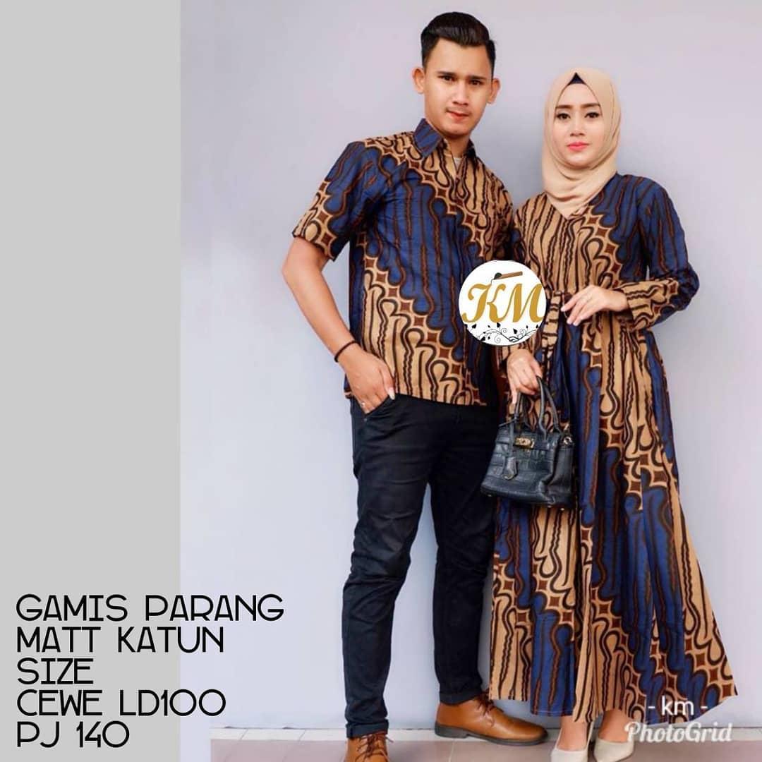 Contoh Baju Couple Baju Gamis Batik Busana Muslim Terbaru 12