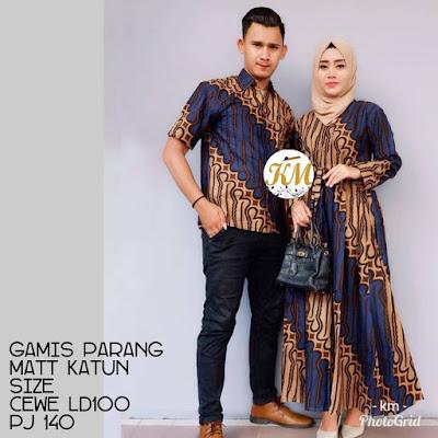 Contoh Baju Couple Baju Gamis Batik Busana Muslim Terbaru 2018 Batik Pattern Motif Parang Biru