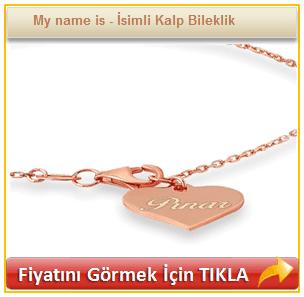 My name is - İsimli Kalp Bileklik