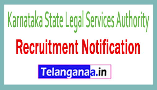Karnataka State Legal Services Authority KSLSA Recruitment