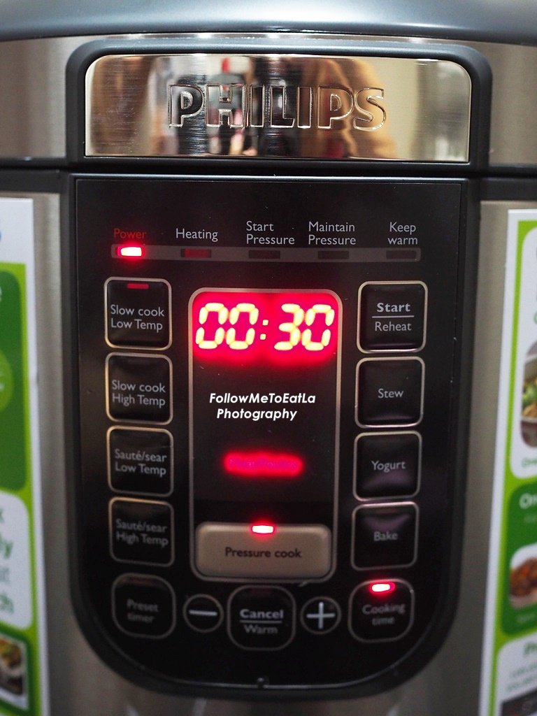 Follow Me To Eat La Malaysian Food Blog Product Review The New Philips Pressure Cooker Hd2136 Press Cook Choose Meat Poultry Add On Cooking