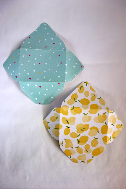 scrapbook paper, handmade stationery, DIY envelopes