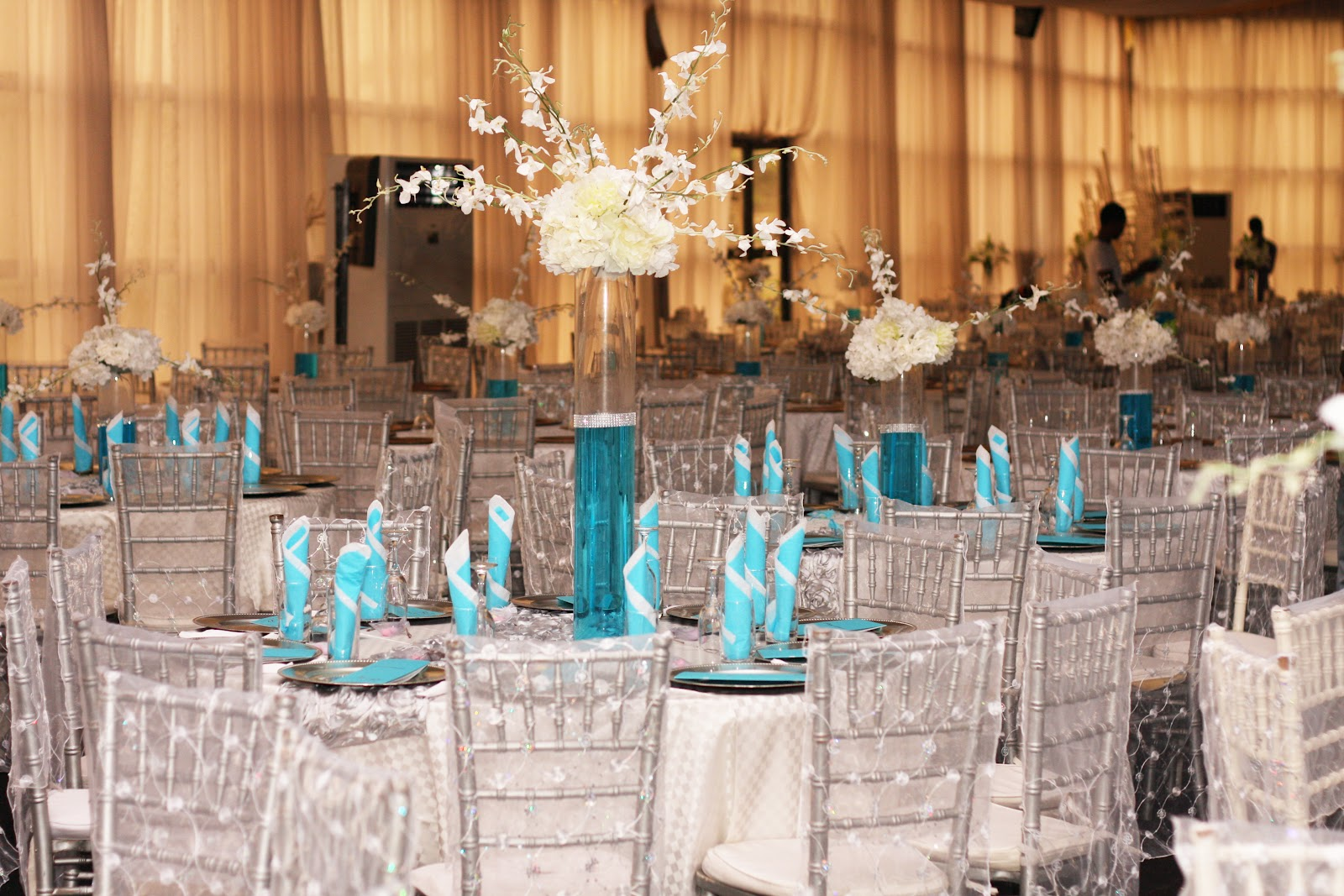 tiffany blue wedding chair covers dining slipcovers nz aquarian touch events ng