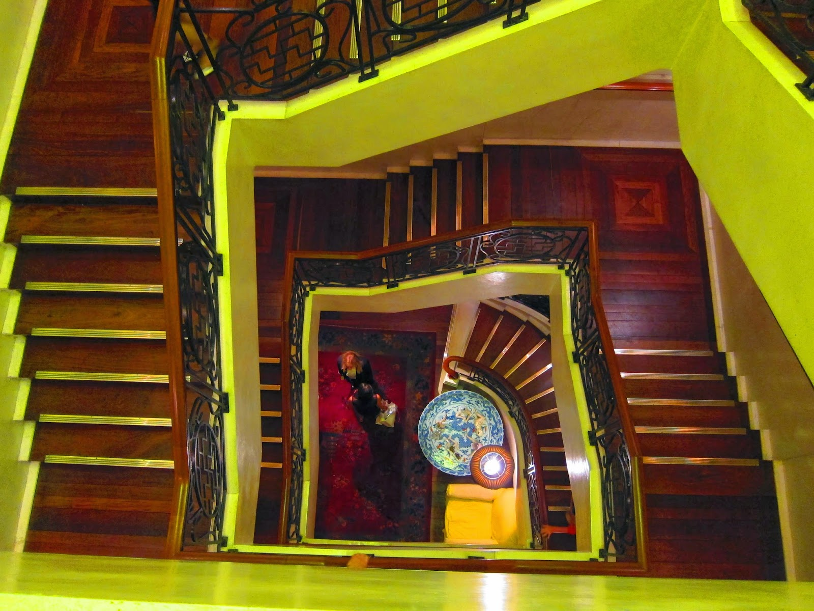 China Club staircase Hong Kong