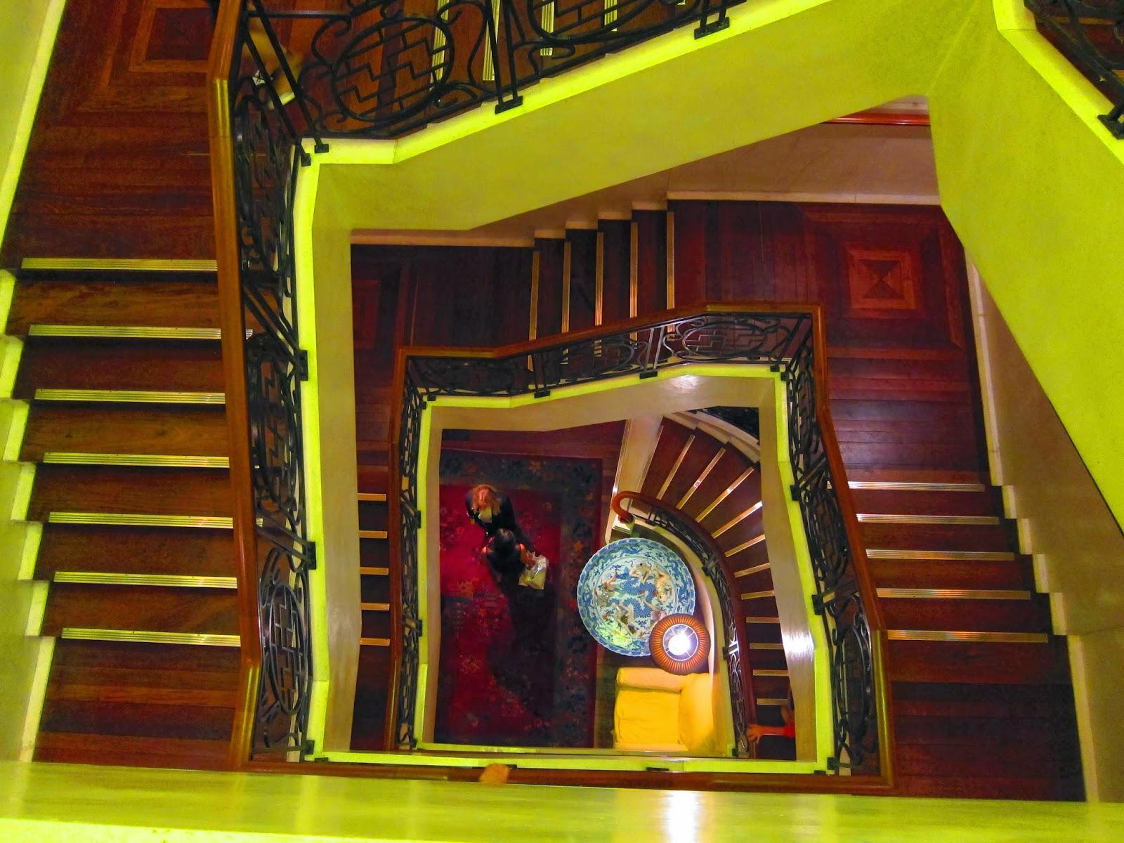 China Club staircase Hong Kong