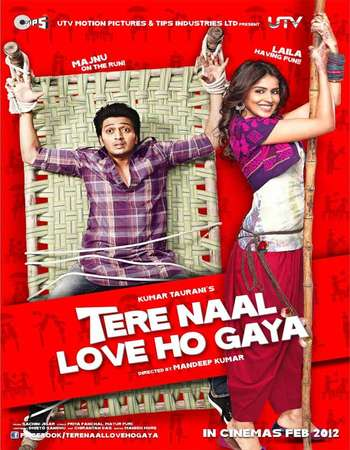 Poster Of Tere Naal Love Ho Gaya 2012 Hindi 550MB DVDRip 720p ESubs HEVC Watch Online Free Download downloadhub.net