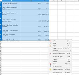 de LibreOffice Calc a una tabla en LibreOffice Writer
