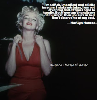 Marilyn Monroe Best Quotes on love-life