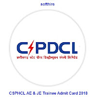 CSPHCL AE & JE Trainee Admit Card