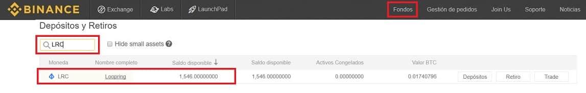 Guardar Monedas Monedero My Ether Wallet Loopring (LRC)