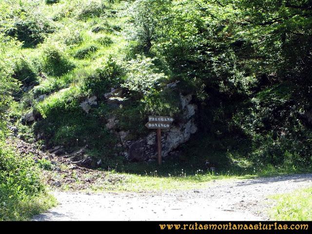 Ruta Les Campes Peña Mea: Cruce Pelúgano Doñango