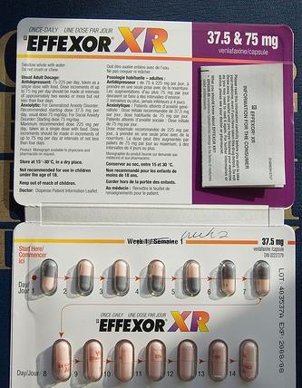 ¿Cuáles son los efectos del Effexor XR?