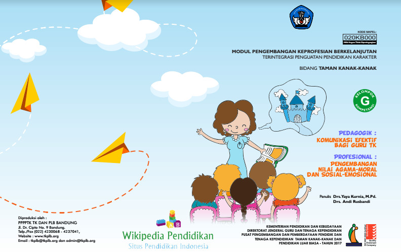 Modul Sim Pkb Guru Paud Tk Kompetensi G Pedagogik Dan Profesional 2017 Sman 1 Tegineneng