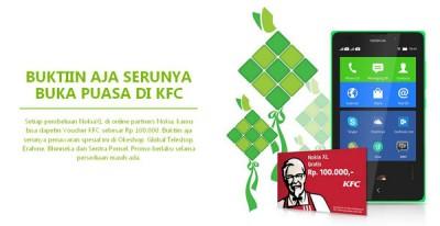 Beli Nokia XL, Gratis Voucher Makan KFC