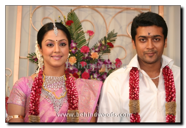 Tamil Actress Hot wallpapers: Suriya & Jothika Marriage Photos