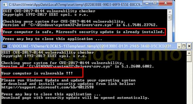 Test ESET per sapere se il PC è sicuro da WannaCry