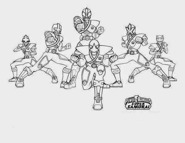 Print Images Cool Power Rangers Samurai Coloring Pages