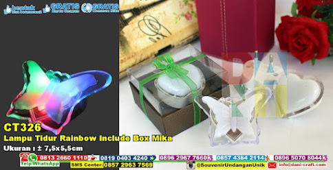 Lampu Tidur Rainbow Include Box Mika