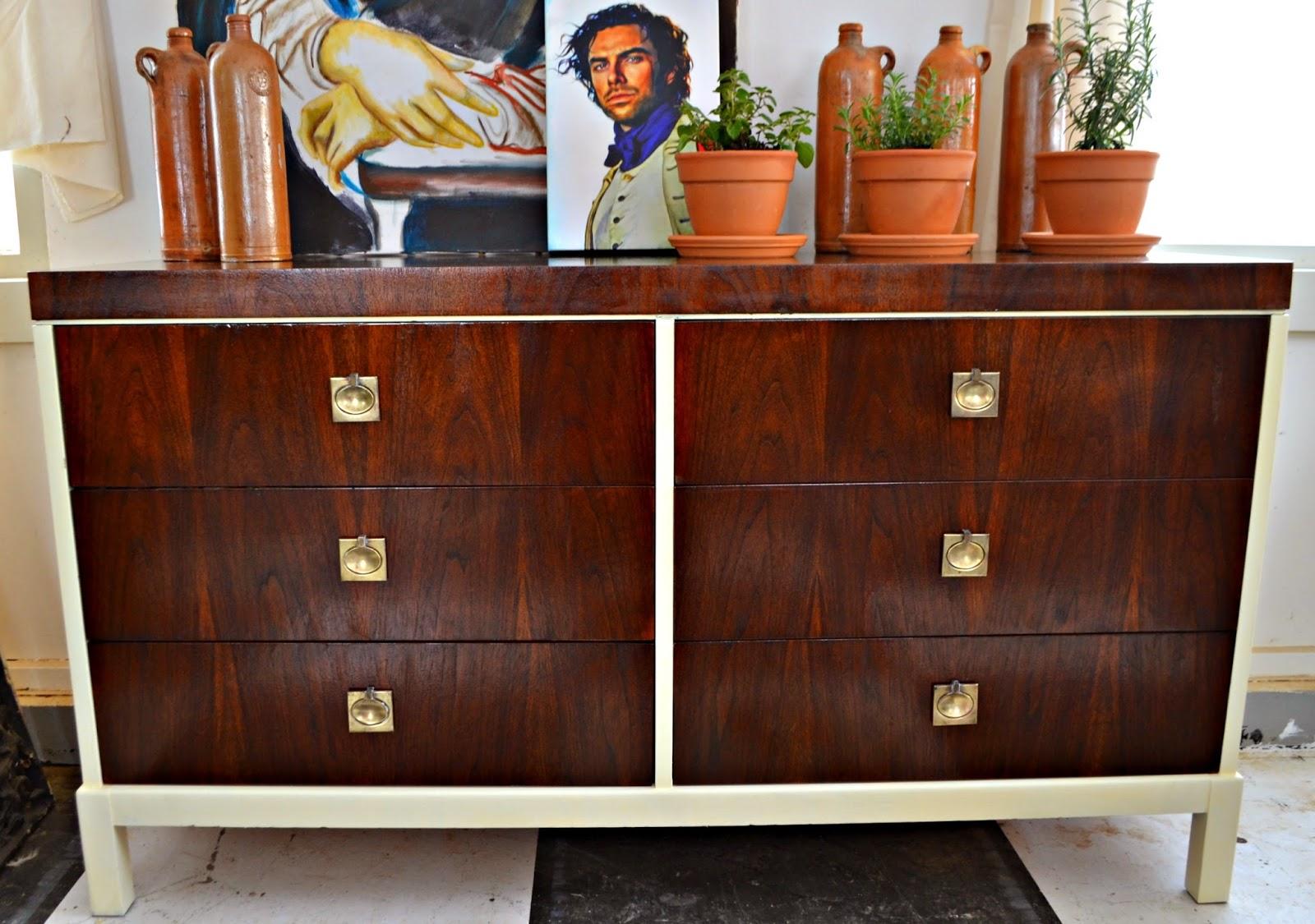 Heir And Space Mid Century Modern Walnut Dresser
