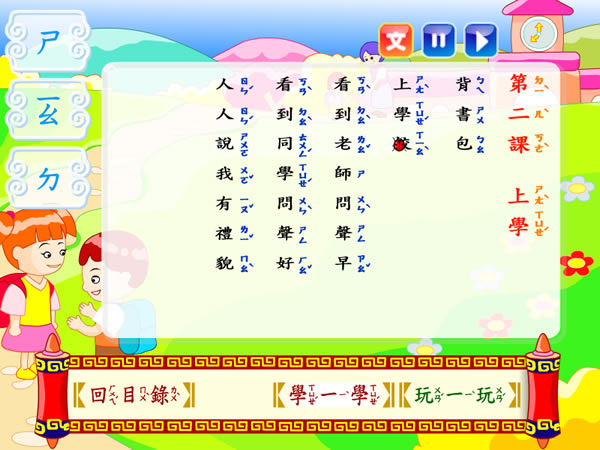 「ㄅㄆㄇ西遊記 」 --拼音練習