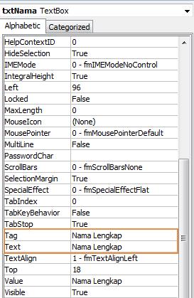 TextBox VBA Excel