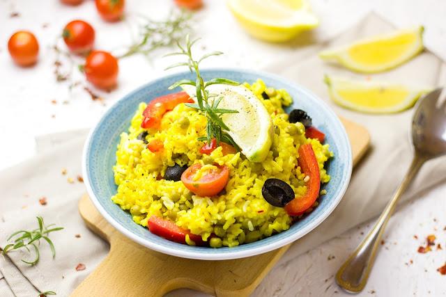 arroz com açafrão simples