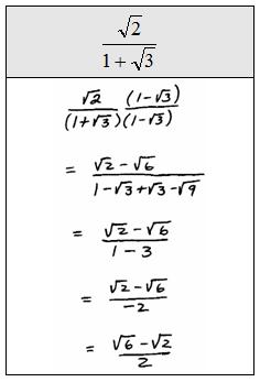 OpenAlgebra.com: dividing radicals