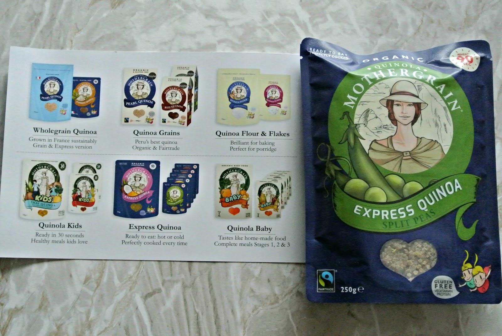 Quinola Mothergrain express quinoa with split peas fair trade degustabox