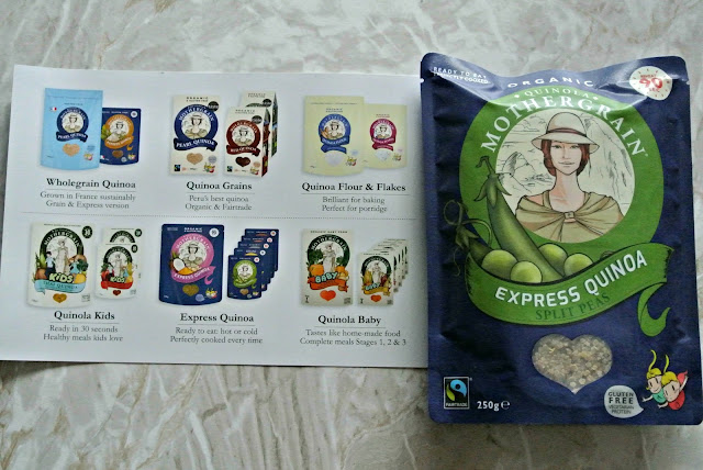 Quinola Mothergrain express quinoa with split peas fair trade degustabox