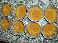 Base de galletas en los vasos
