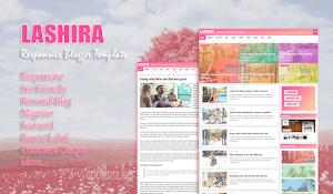 Lashira Blogger template free responsive