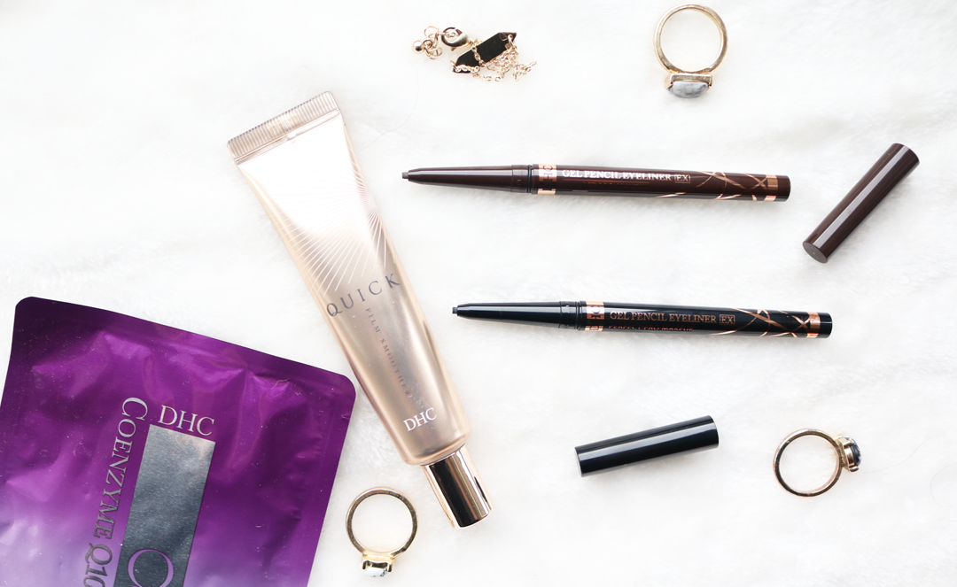 DHC Quick Film Smoother, Gel Pencil Eyeliners & Q10 Sheet Mask review