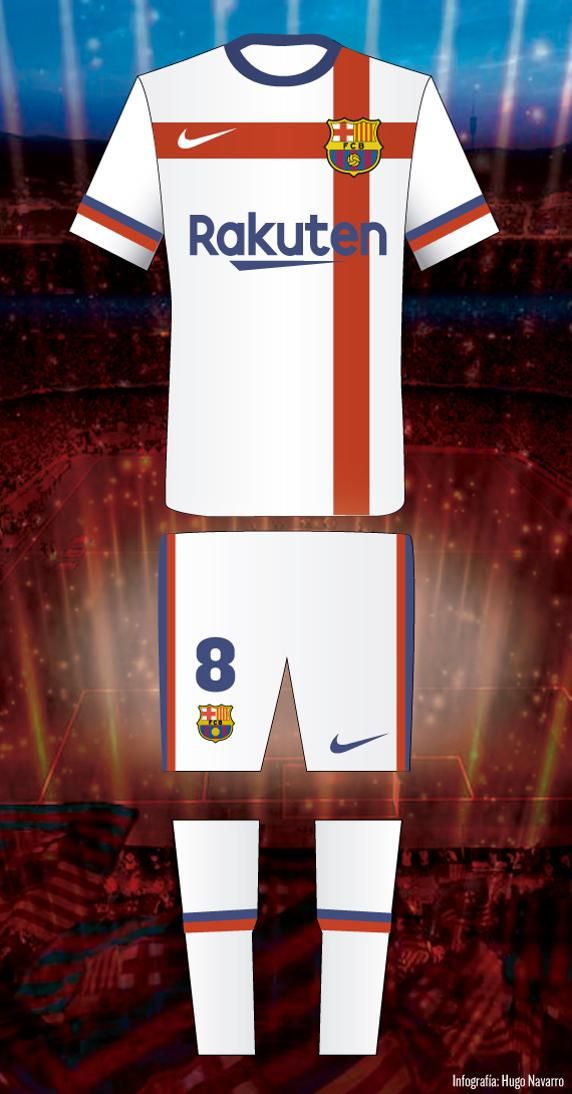 Nike Rejected Away White Kit Proposed 2020-21 by Barcelona