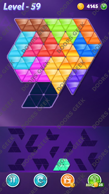 Block! Triangle Puzzle Grandmaster Level 59 Solution, Cheats, Walkthrough for Android, iPhone, iPad and iPod