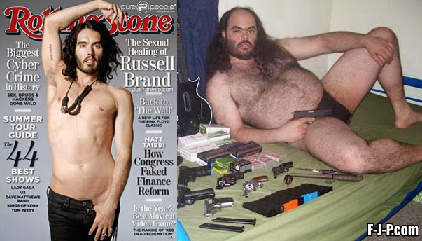 Funny Celebrity Russell Brand Before After Joke Picture