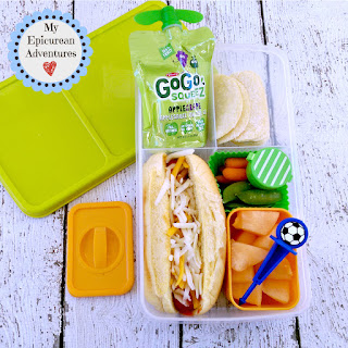 My Epicurean Adventures: Lunch Box Fun 2015-16: Weeks #23-28. Lunch box ideas, school lunch ideas, lunches, hot dog