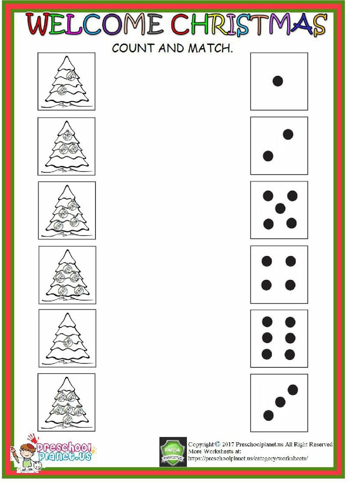 Christmas Count Worksheet