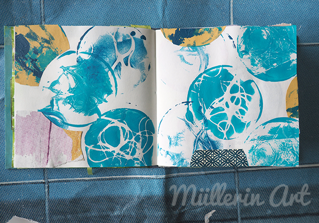 Gelliprint sketchbook ©Müllerin Art
