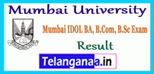 Mumbai University BA B.Sc B.Com IDOL Result