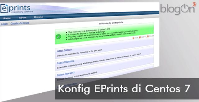 Konfigurasi dan Memulai EPrints 3 pada CentOS 7