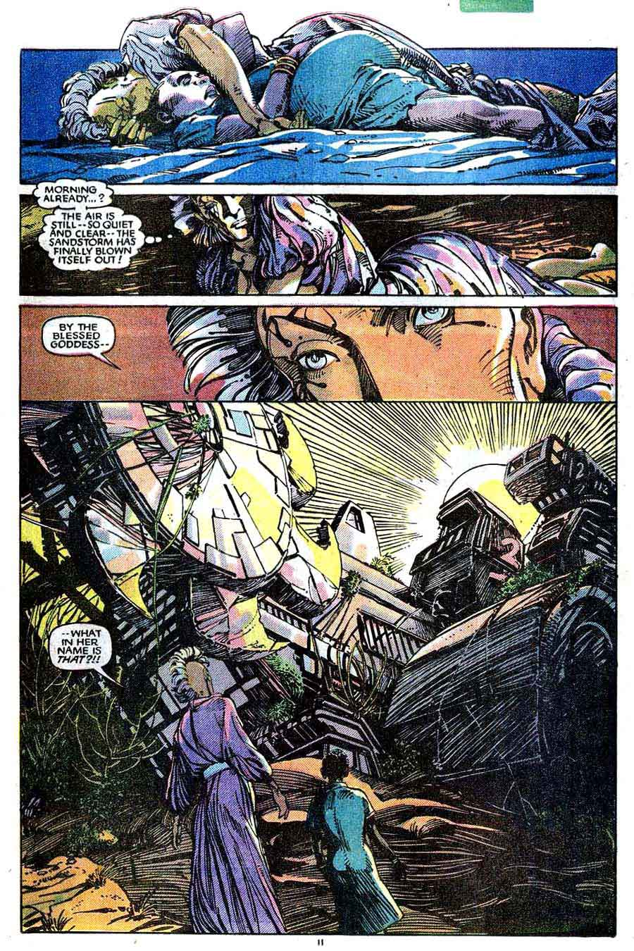 X-men v1 #198 marvel comic book page art by Barry Windsor Smith