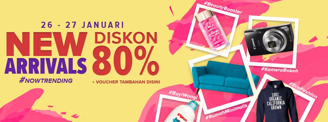 #Lazada - #Promo #Diskon 80% Produk Baru NOWTRENDING (s.d 27 Jan 2019)