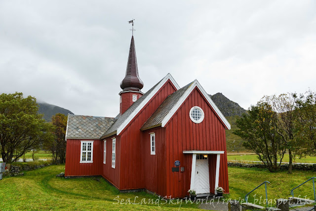 挪威,  羅浮敦群島, lofoten island, norway, flakstad church
